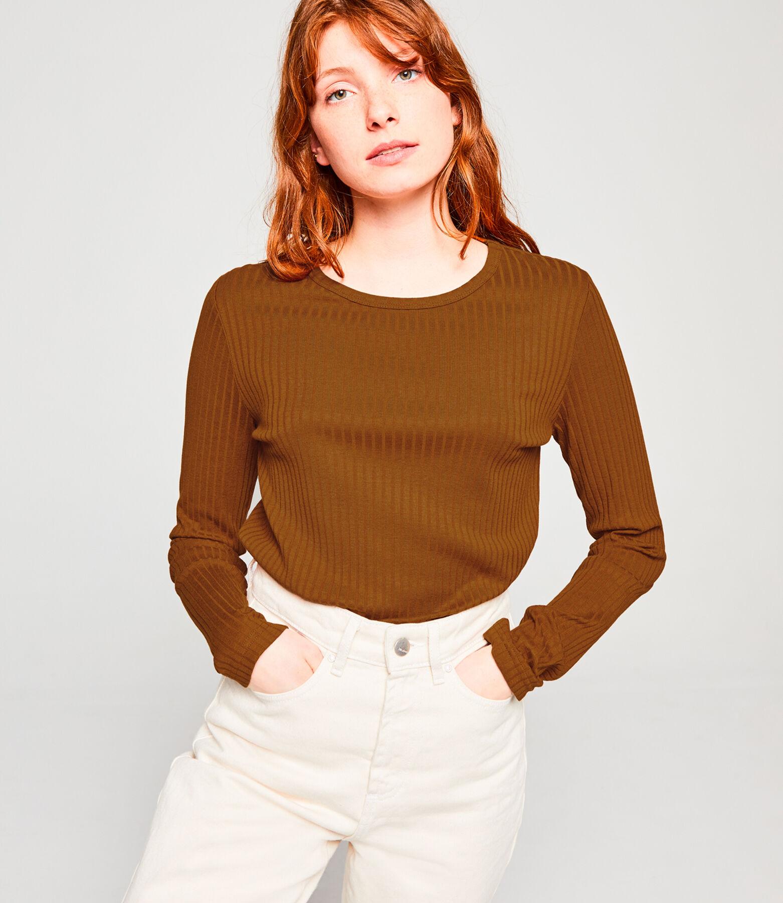T-shirt manches longues à côtes