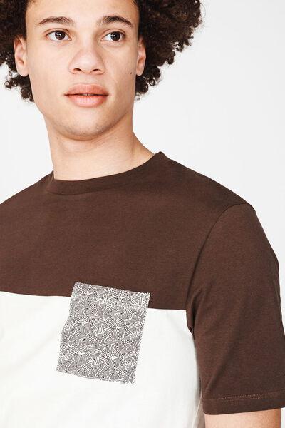 T-shirt poche imprimée en coton BIO