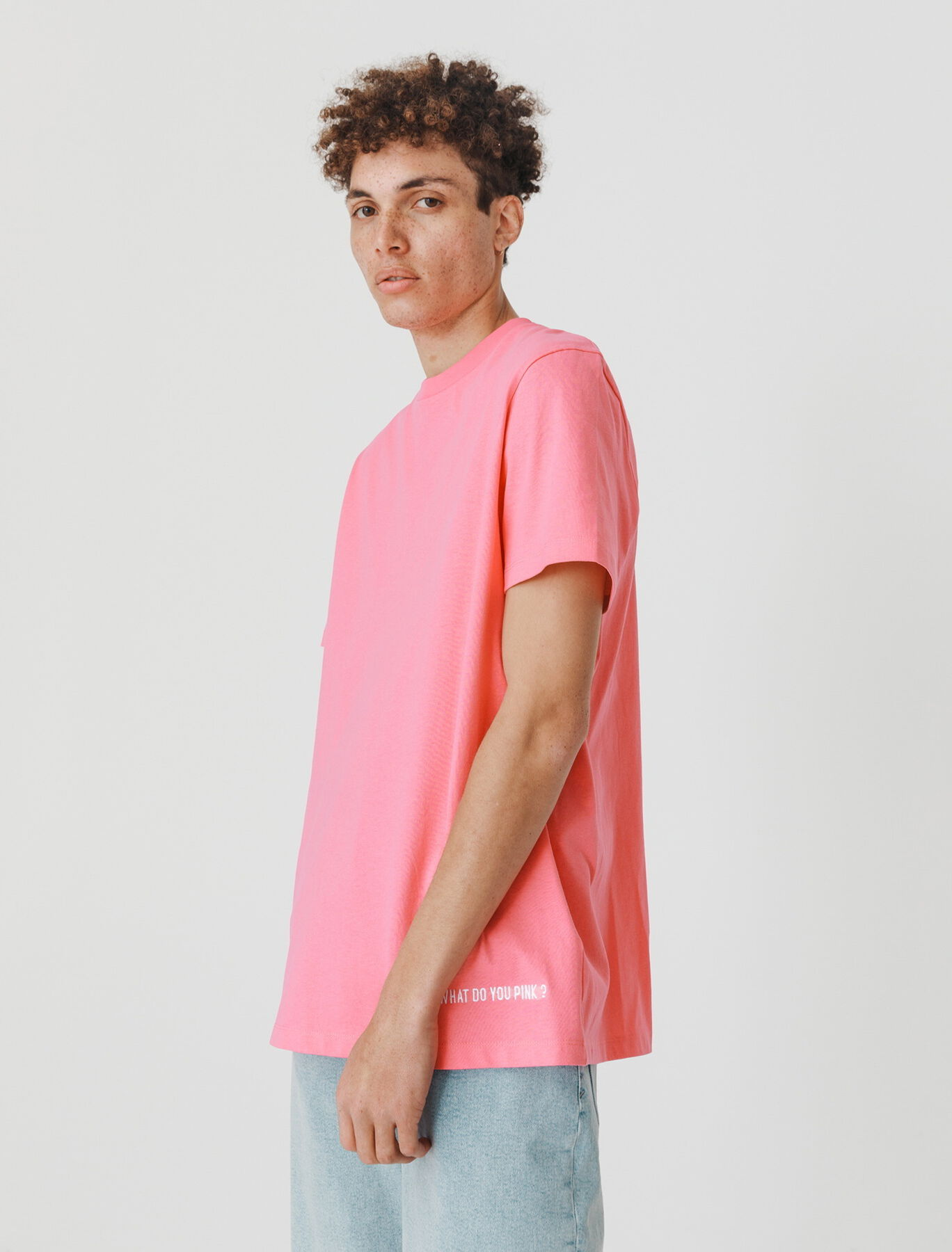 T-shirt avec broderie contrastée