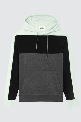 Sweat loose enfilé colorblock