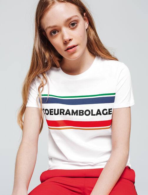 "T-shirt ""COEURAMBOLAGE"" femme"