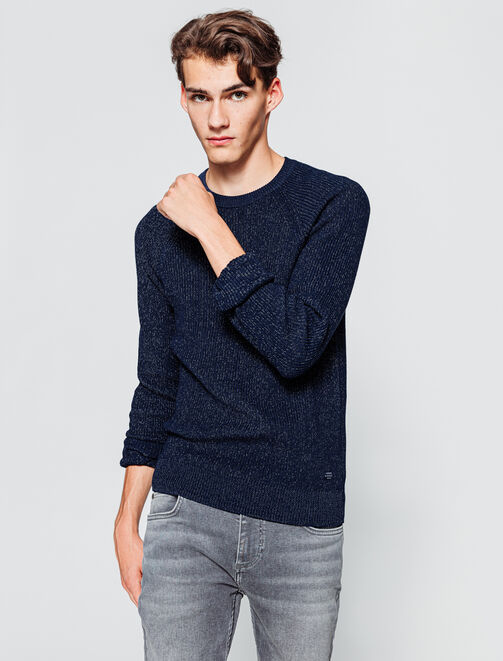 Pull maille fantaisie homme