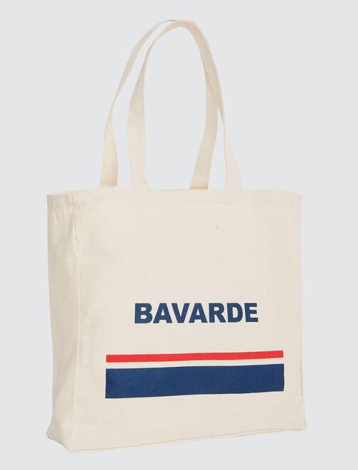 """Tote bag message """"Bavarde"""" femme"""