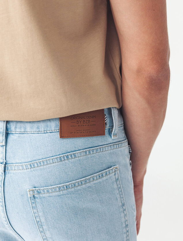 Jean slim tapered bleached