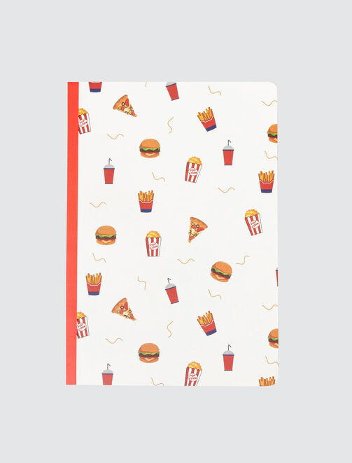 Cahier Imprimé All Over Food femme