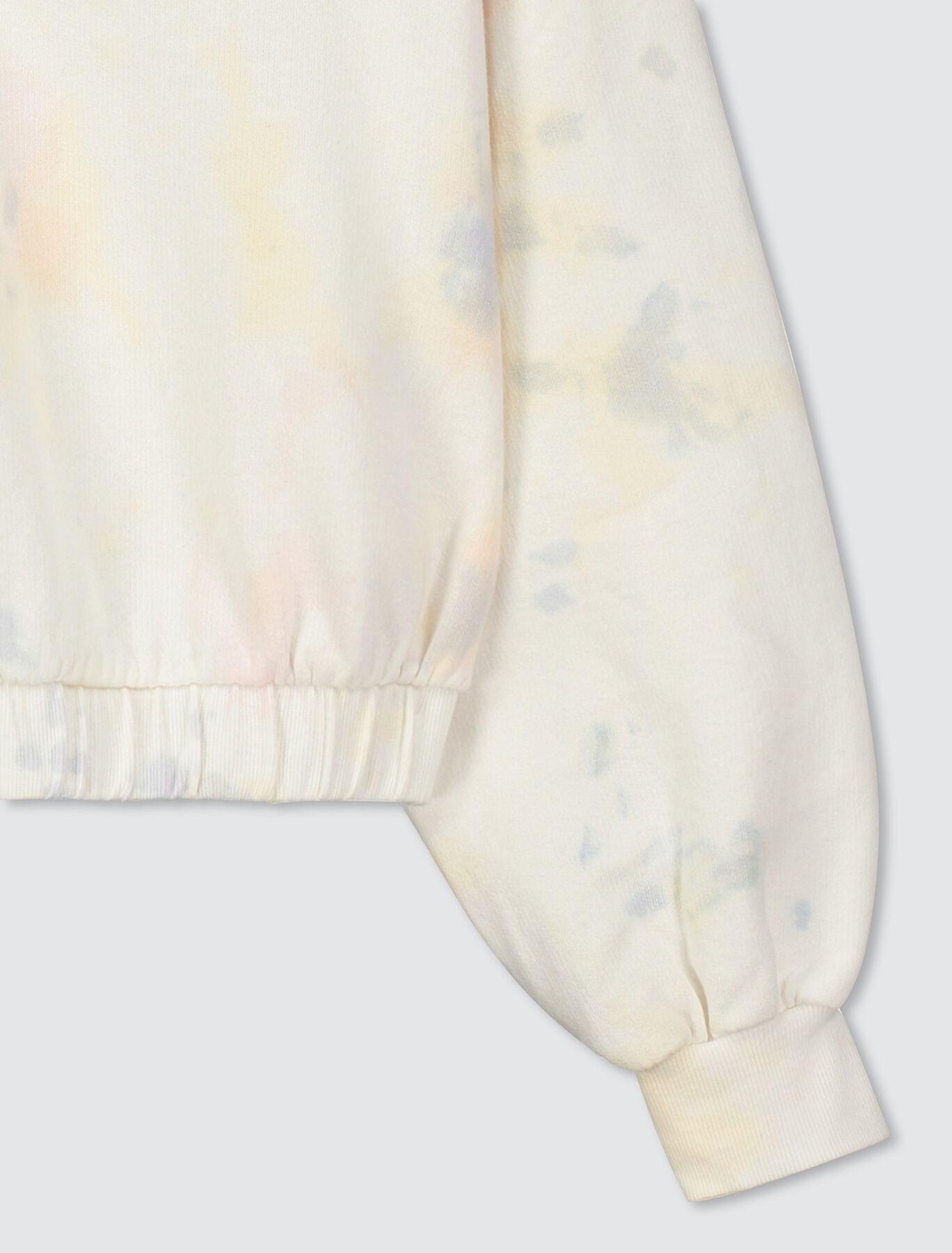 Sweat cropped tie & dye