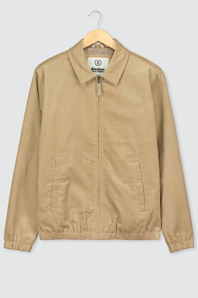 Blouson velours col chemise