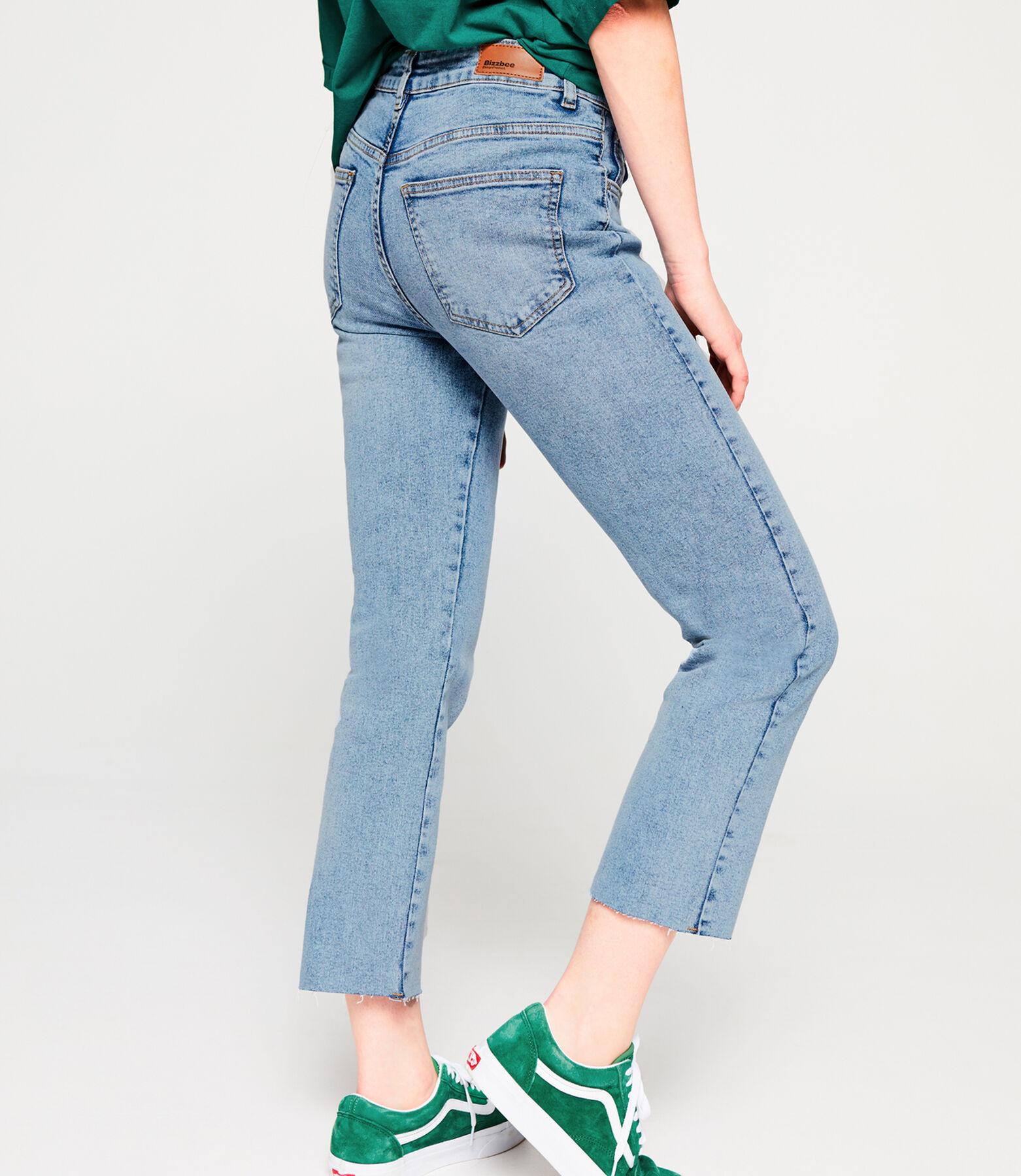 Jean straight raw cut