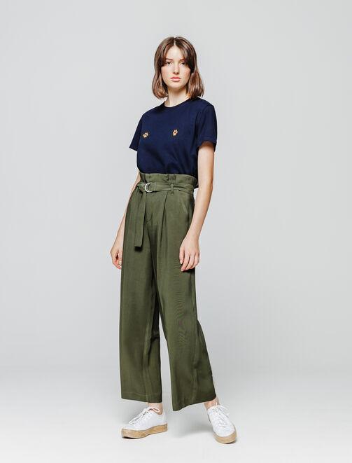pantalon à pinces femme
