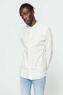 Chemise blanche oxford imprimée
