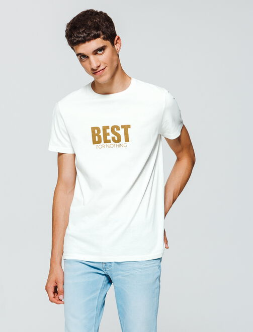 """T-shirt à message """"Best for Nothing"""" homme"""