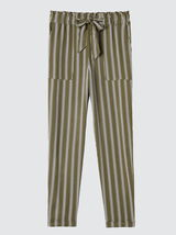 Pantalon fluide rayé taille haute