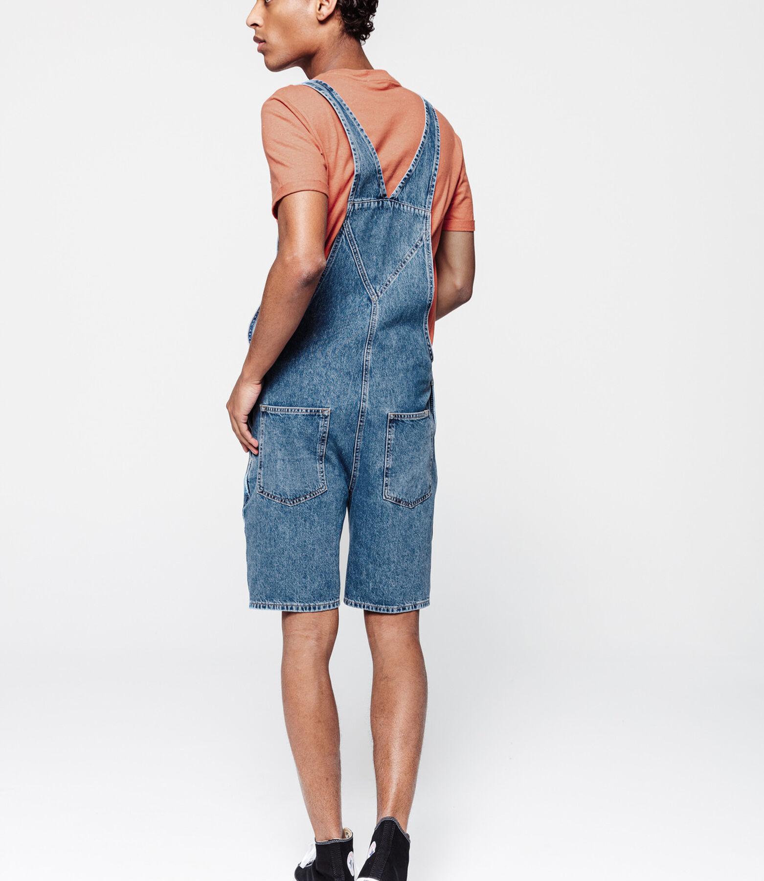 Salopette bermuda en jean, recyclé