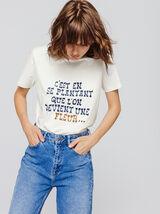 T-shirt message en coton bio