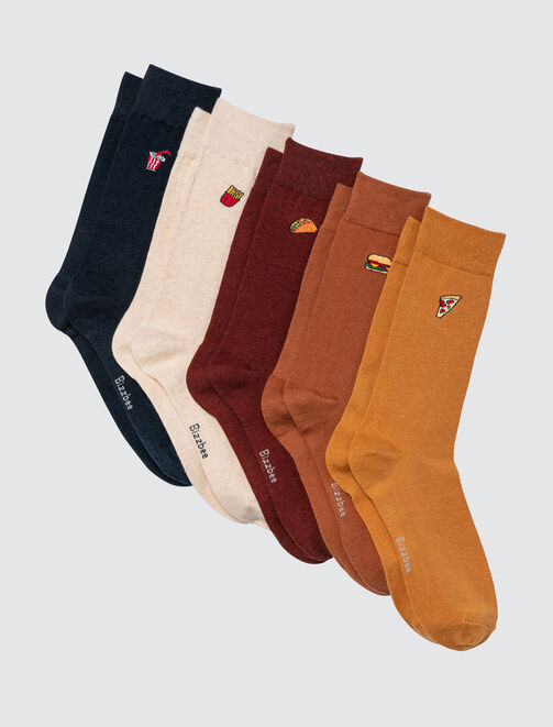 Lot de 5 Chaussettes Colorama Junk Food homme