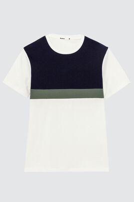 T-shirt découpes bicolores