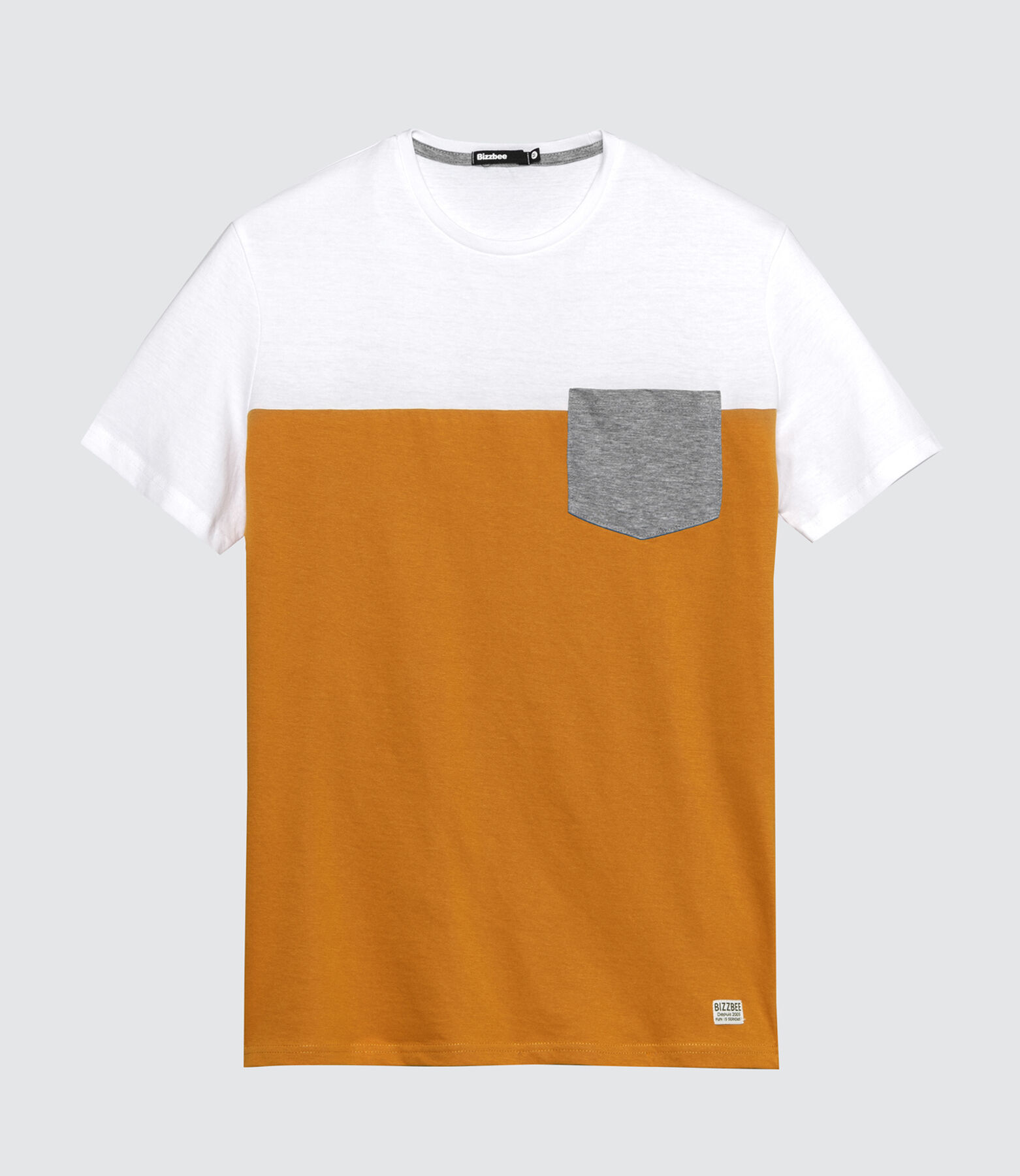 T-shirt color-block poche poitrine