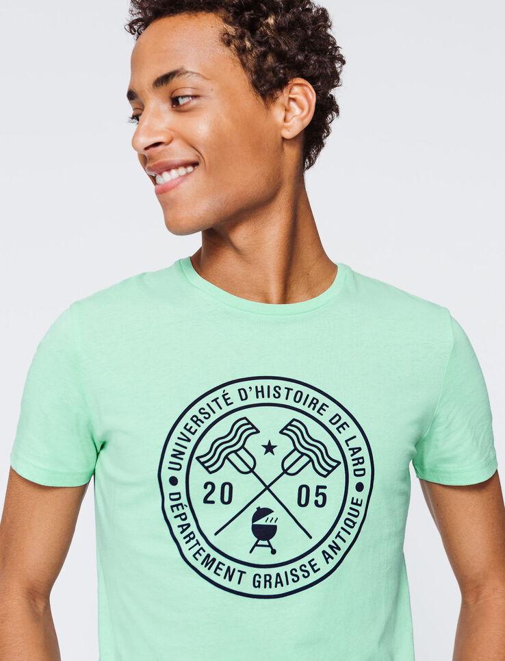 """T-shirt message """"Université d'histoire de lard"""""""