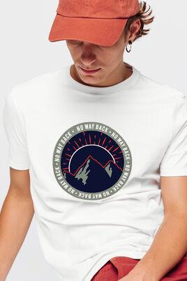 T-shirt printé montagne graphique issu de l'agricu