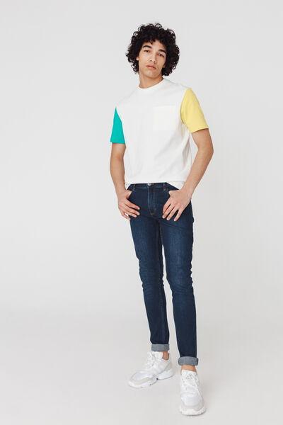 Jean slim basique en coton recyclé