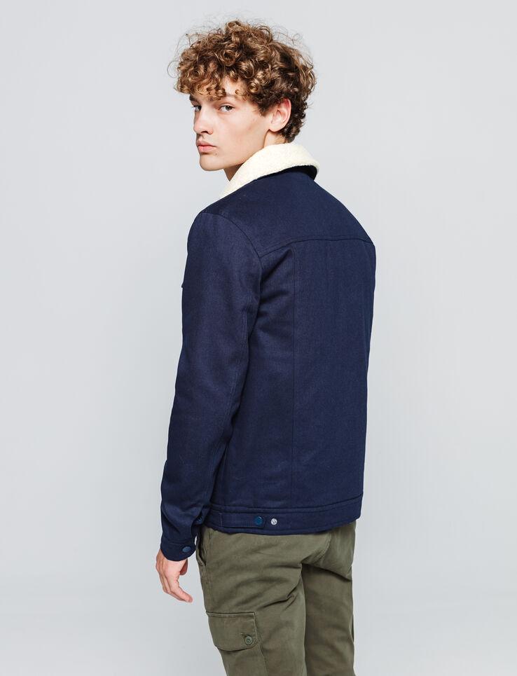 Veste en coton col sherpa