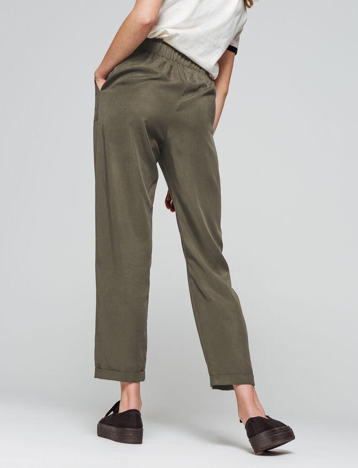 pantalon fluide nou taille haute femme bizzbee. Black Bedroom Furniture Sets. Home Design Ideas