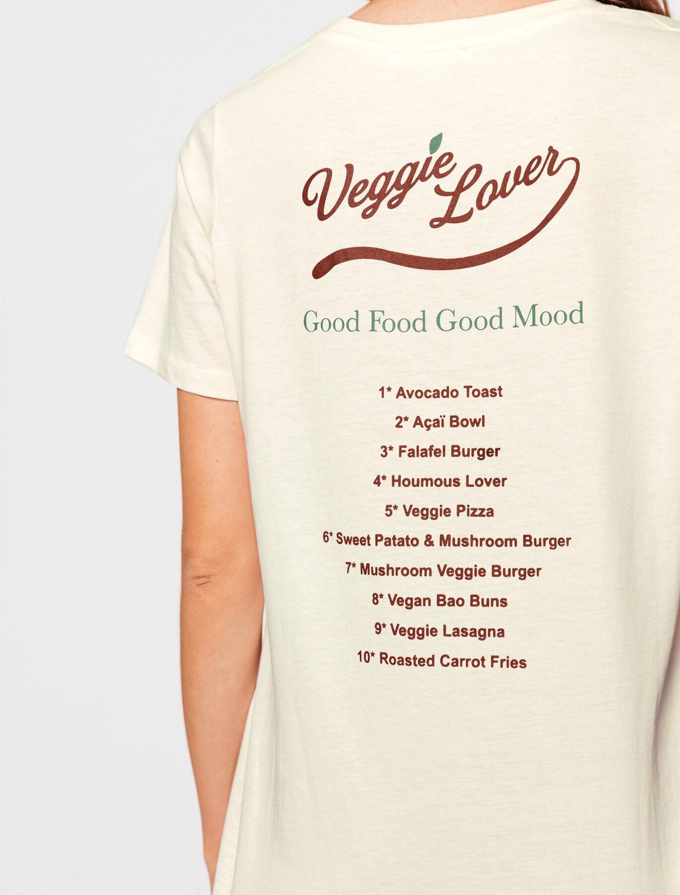 T-shirt en coton bio message Veggie Lover