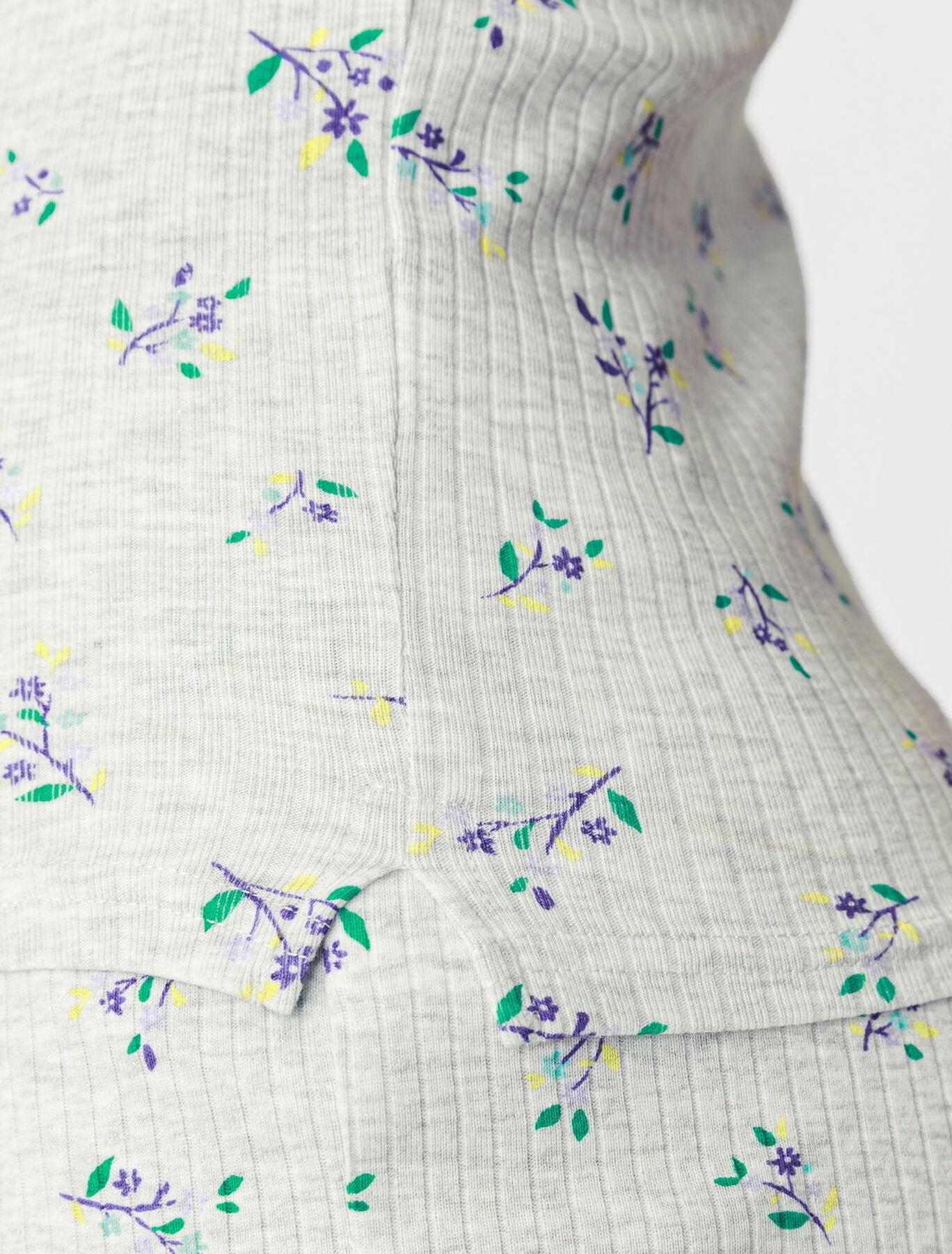 Haut de pyjama imprimé fleurs