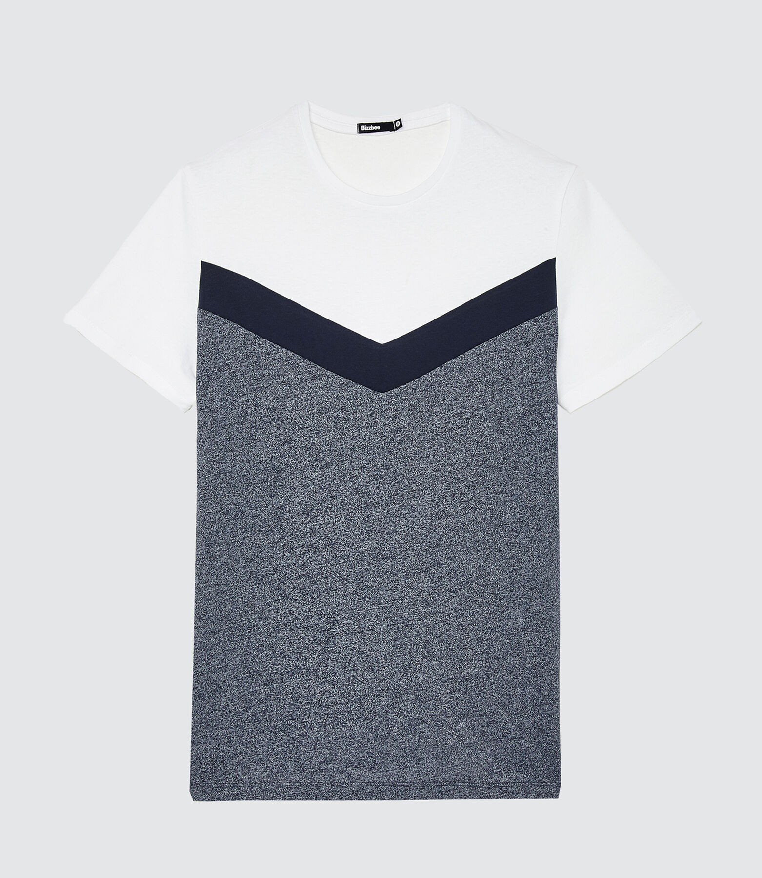 T-shirt coloblock forme V