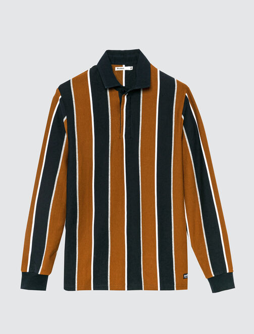 Polo rugby rayures verticales homme