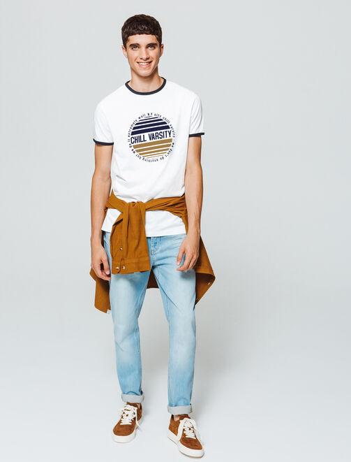 "T-shirt print ""Chill Varsity"" homme"