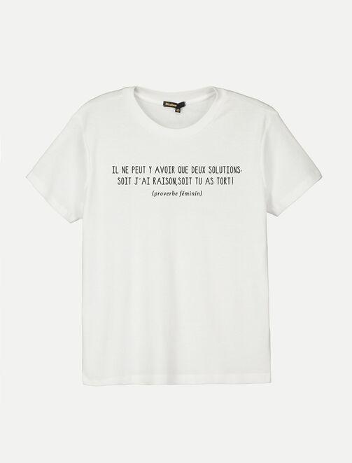 """T-shirt à message """"il ne peut y avoir que deux sol femme"""