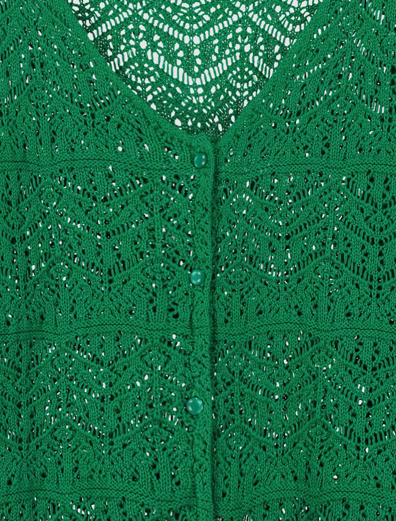 Gilet boutonné en coton bio
