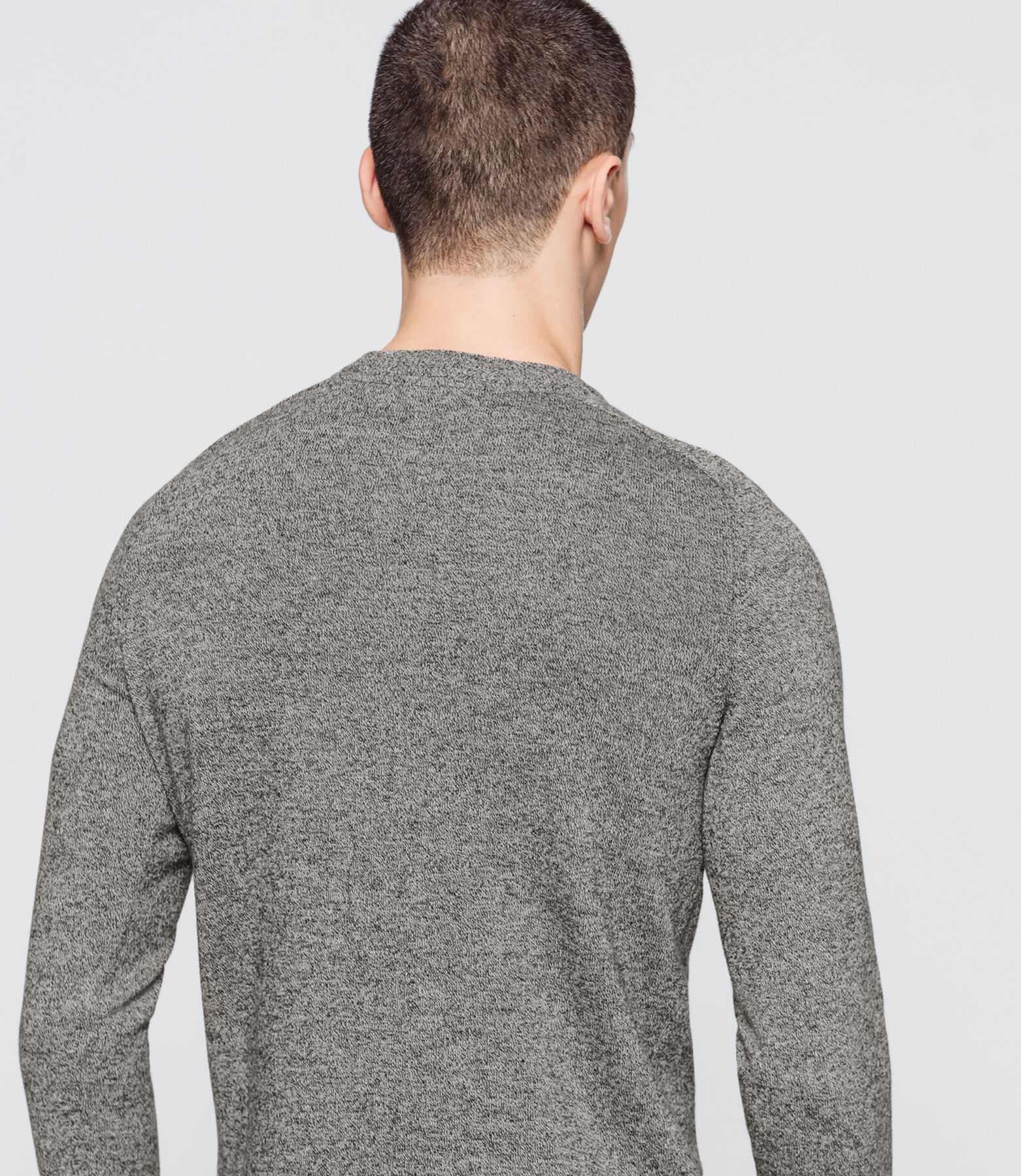Pull fin basique chiné