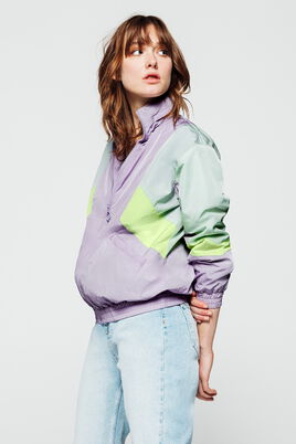 Blouson nylon colorblock