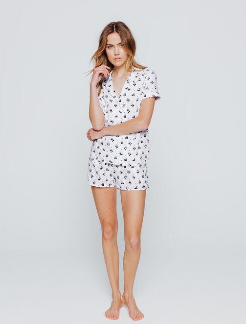 Set Pyjama Imprimé Panda femme