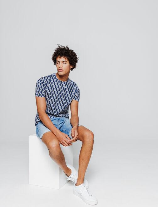 T-shirt graphique bleu homme