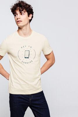 T-shirt avec imprimé poitrine
