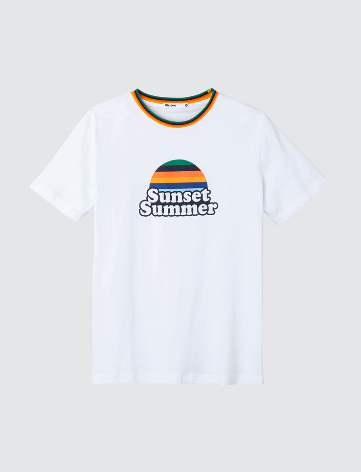 "T-shirt à message "" Sunset summer"""