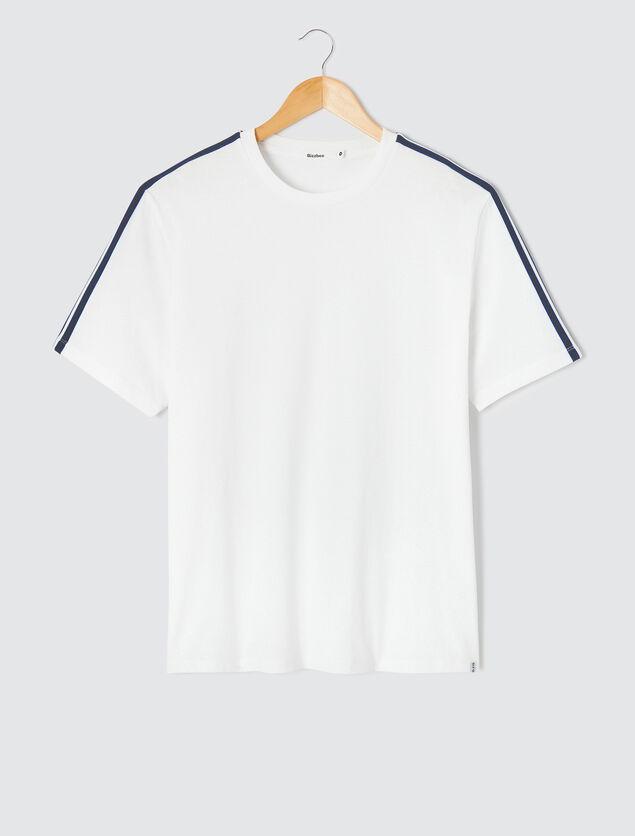 T-shirt manches avec bandes