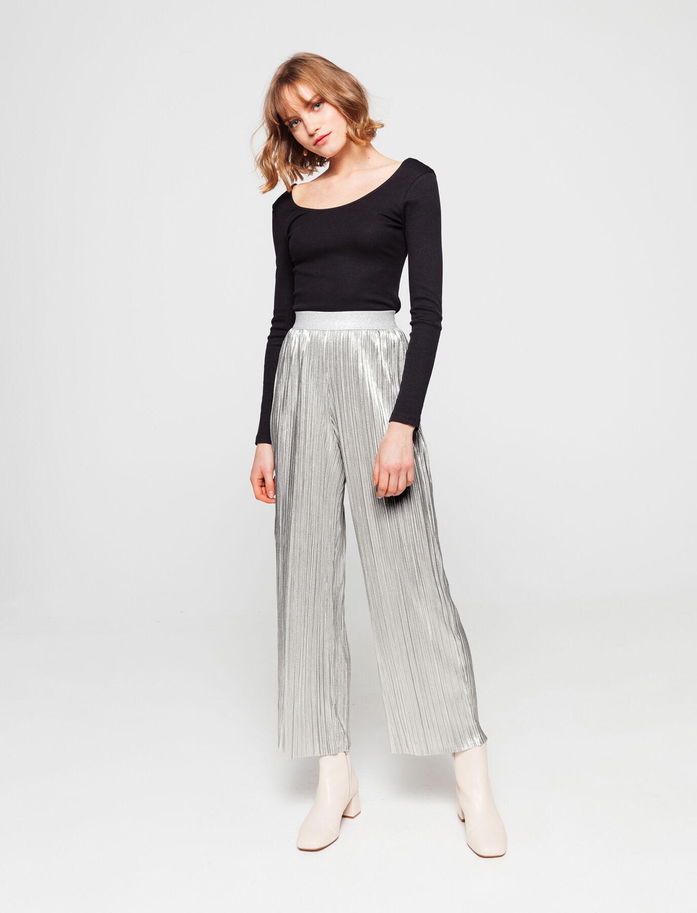 Pantalon Plissé Lurex