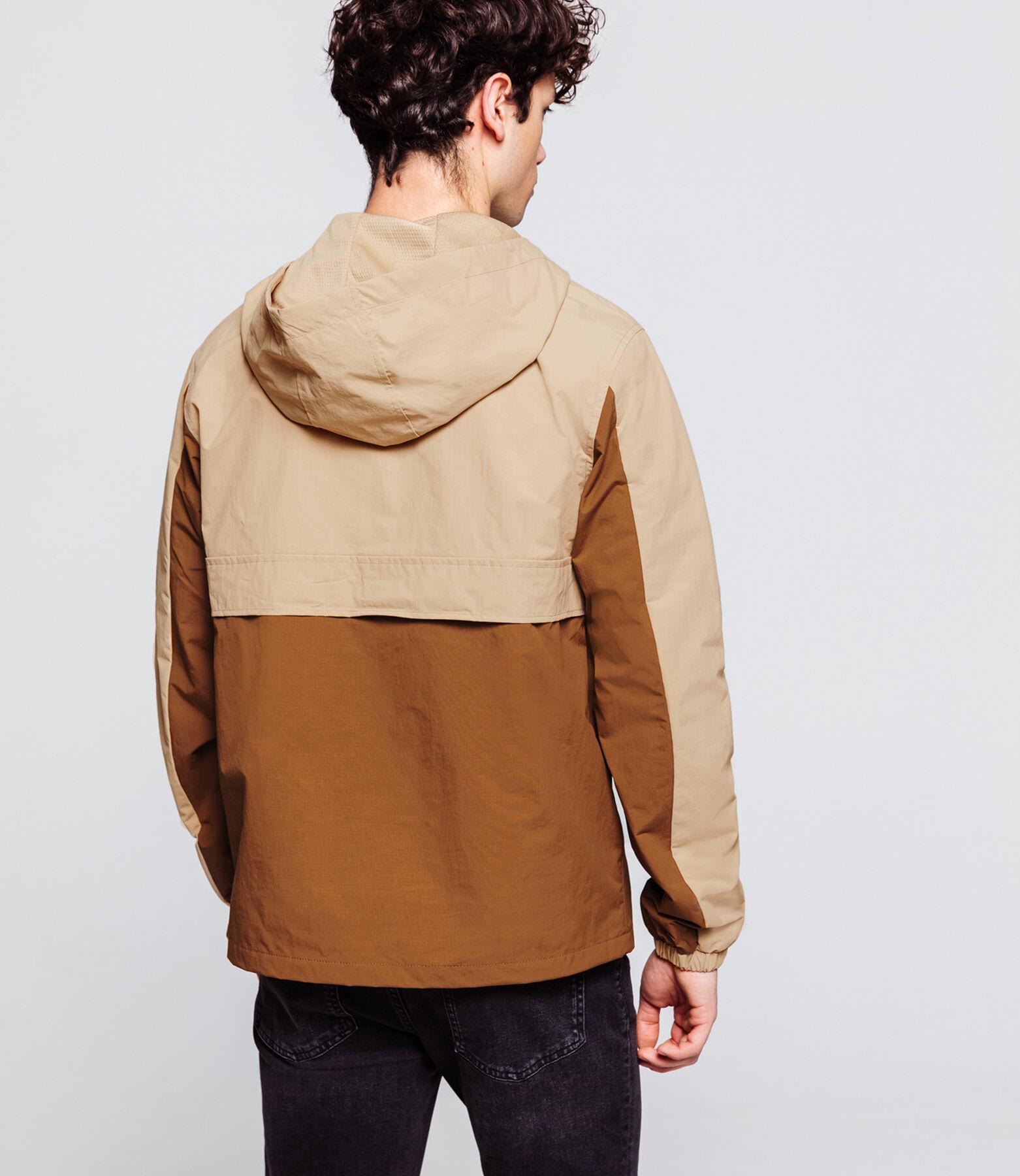 Blouson pop over color block rouille/camel