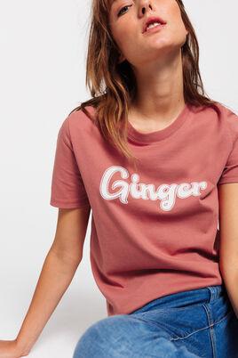 T-shirt en coton BIO à message GINGER