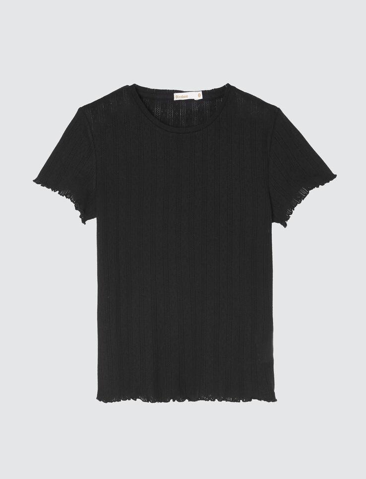 T-shirt pointelle