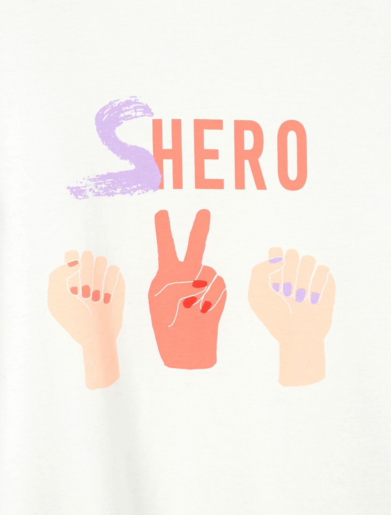 "T-shirt ""Shero"" en coton bio"