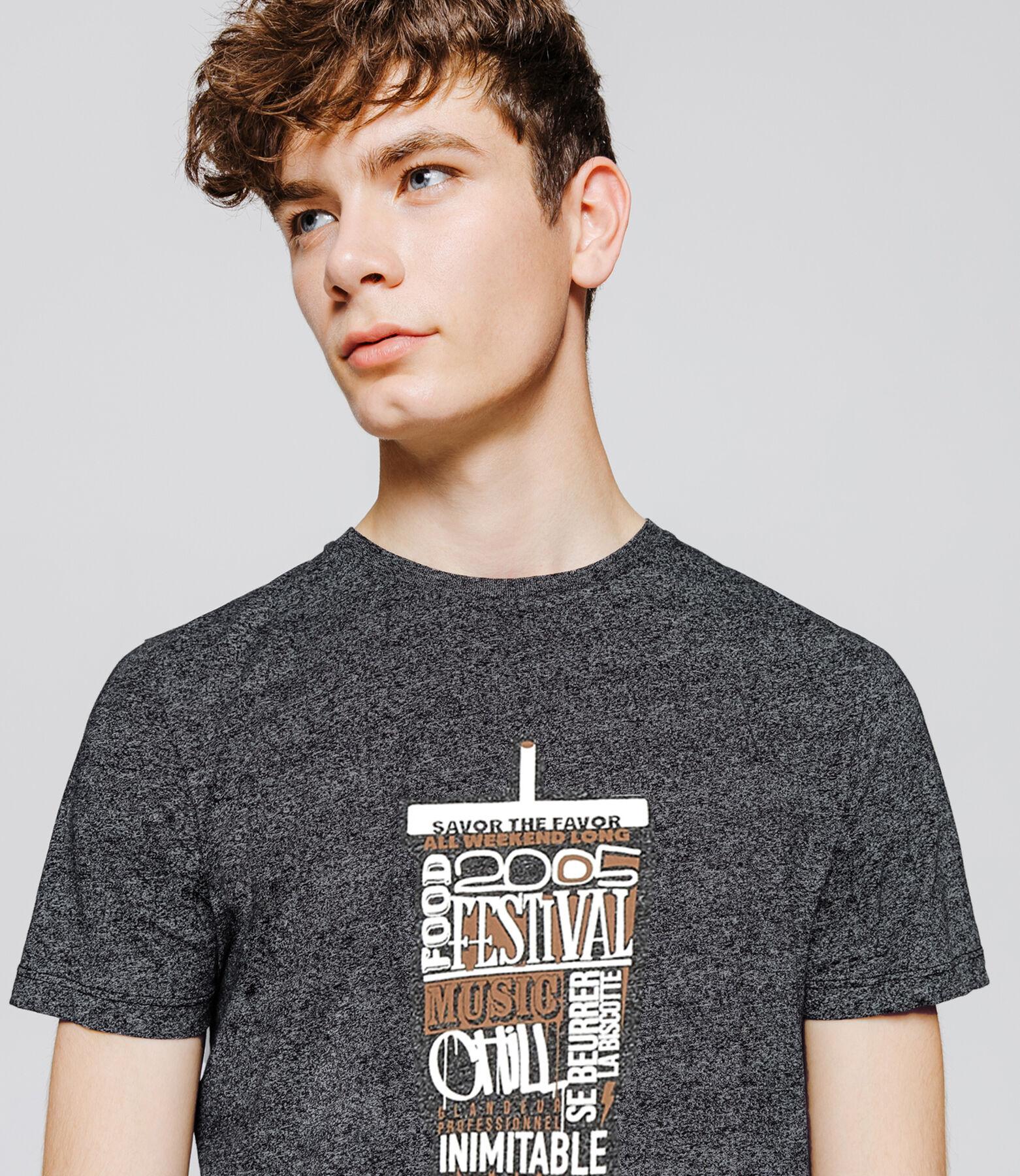 T-shirt mouliné print humour