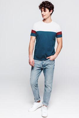 T-shirt avec découpes bicolores