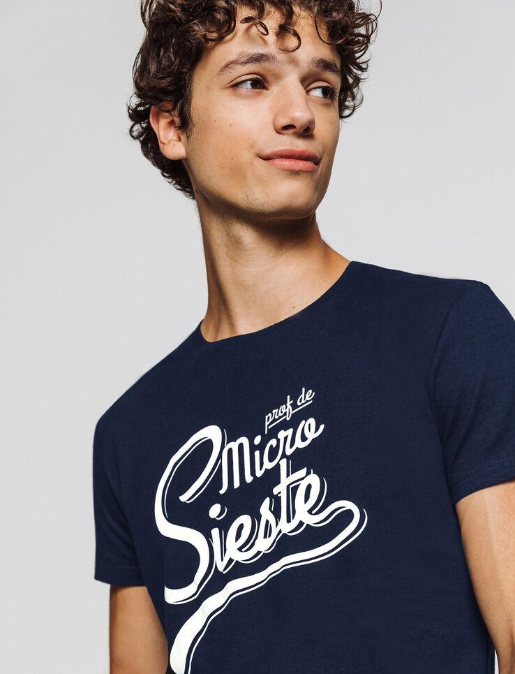 T-shirt humour Prof de micro sieste