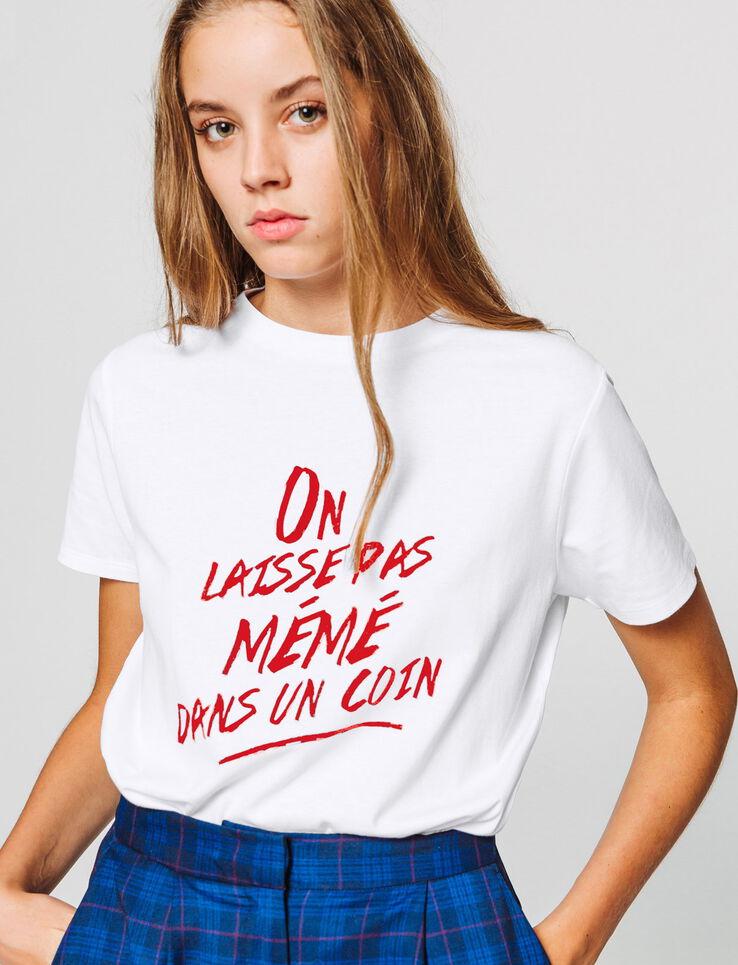 """T-shirt à message """" On laisse pas mémé dans un coi"""