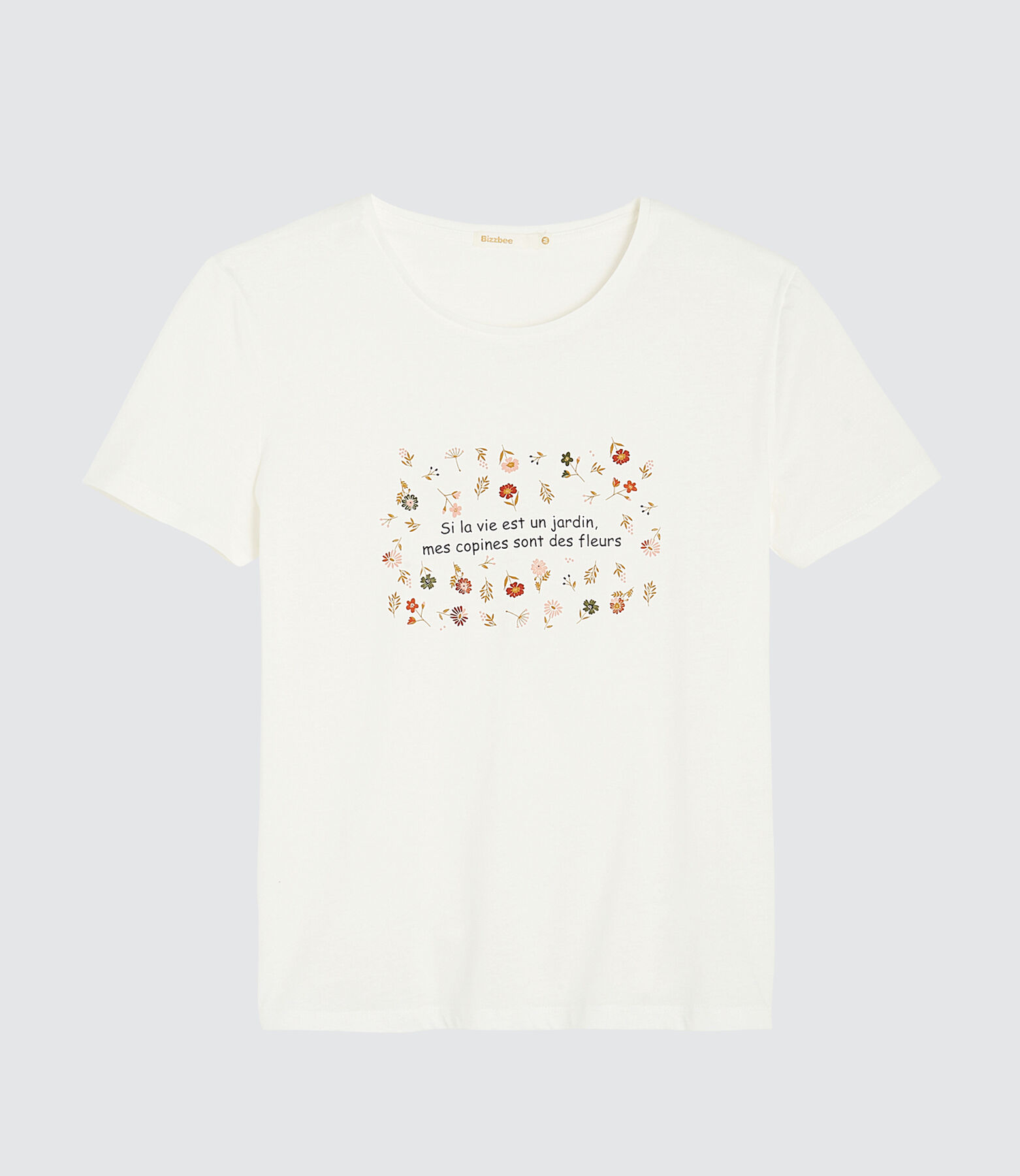 """T-shirt message """"mes copines sont des fleurs"""""""